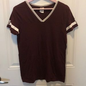 Maroon short-sleeved T-shirt from PINK